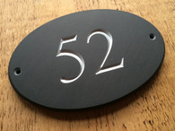 Lakeland Slate Oval House Number