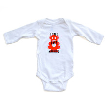 Little Love Machine Cute Valentine's Day Long Sleeve Baby Bodysuit