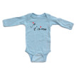 """Je t'aime"" (French for ""I Love You"") Cute Valentine's Day Long Sleeve Baby Bodysuit"