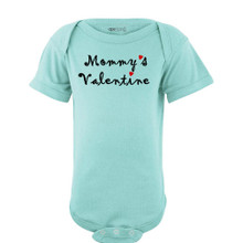 "Super Cute ""Mommy's Valentine"" Valentine's Day Adorable Baby Short Sleeve Bodysuit"