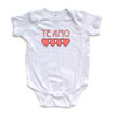 """Te Amo (Spanish for """"I Love You"""") Cute Valentine's Day Short Sleeve Baby Bodysuit"""