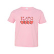 """Te Amo (Spanish for """"I Love You"""") Cute Valentine's Day Toddler Tee Soft Cotton"""