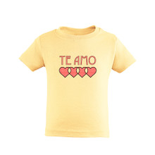 "Te Amo (Spanish for ""I Love You"") Cute Valentine's Day Toddler Tee Soft Cotton"
