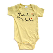"""Grandma's Valentine"" Valentine's Day Adorable Baby Short Sleeve Bodysuit"
