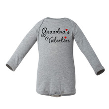 """Grandma's Valentine"" Valentine's Day Adorable Baby Long Sleeve Bodysuit"