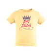 "Cute ""Big Sister"" Print on Soft Cotton Toddler Tee With Multicolored Tiara Crown"