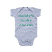 Dadd's Lucky Charm - Saint Patrick's Day Baby Short Sleeve Adorable Bodysuit