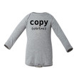 Control C (Copy) Long Sleeve Baby Bodysuit (Goes With Control V Paste)