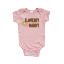 Adorable Baby Girls I Love My Daddy Cute Father's Day Soft Cotton Infant Bodysuit