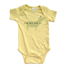 "Apericots Funny ""The Dog Did It"" Soft Baby Bodysuit With Cute Doggie Print Design"