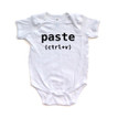 Control V (Paste) Short Sleeve Baby Bodysuit (Goes With Control C Copy)