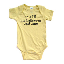 Apericots Funny Sarcastic This IS My Halloween Costume Cute Fun Baby Bodysuit
