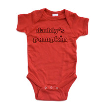 "Apericots Cute ""Daddy's Pumpkin"" Fun Halloween Unisex Soft Cotton Baby Creeper"
