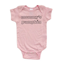 "Apericots Cute ""Mommy's Pumpkin"" Fun Halloween Unisex Soft Cotton Baby Creeper"