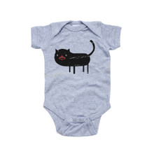 Apericots Fun Spooky Black Cat Halloween Unisex Baby Cute Soft Cotton Romper