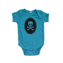 Apericots Spooky Skull and Crossbones Pirate Halloween Baby Cute Bodysuit