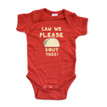 """""""Can We Please Taco Bout This"""" Funny Baby Soft Cotton Bodysuit"""