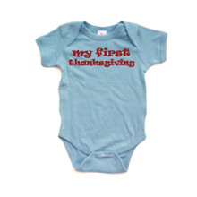 Apericots Cute My First Thanksgiving Unisex Baby Short Sleeve Soft Infant Romper