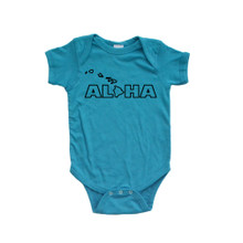 Aloha Hawaii Hawaiian Cute Baby Handmade Fun Unisex Bodysuit