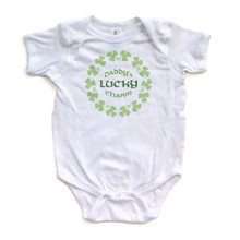 Daddy's Lucky Charm- St. Patrick's Day - Super Cute Short Sleeve Baby Bodysuit