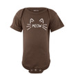 Apericots Cute Meow Cat Whiskers and Ears Fun Short Sleeve Unisex Infant Bodysuit