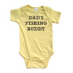 "Apericots Cute ""Dad's Fishing Buddy"" Gender Neutral Infant Baby Short Sleeve Soft Cotton Bodysuit"