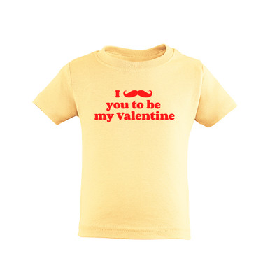Apericots Funny Valentine's Day I Mustache You to Be My Valentine Cute Unisex Kids Tee