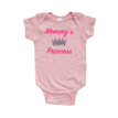 Apericots Mommy's Princess Cute Girls Design With Adorable Tiara Crown Baby Bodysuit