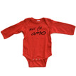 Apericots Eu Te Amo (Portuguese for I Love You) Cute Baby Long Sleeve Bodysuit