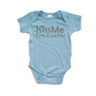 Apericots Kiss Me I'm Lucky Clover Saint Patricks Day Cute Baby Cotton Bodysuit