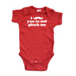 Apericots Cute Funny I Mustache You Not to Pinch Me Baby Saint Patrick's Bodysuit