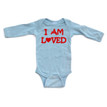 Apericots Cute I Am Loved With Heart Baby Long Sleeve Unisex Bodysuit