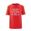 Apericots Daddy Loves Me Cute Short Sleeve Kids Toddler Tee Shirt