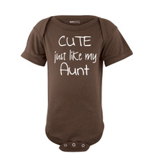 Apericots Cute Just Like My Aunt Short Sleeve Infant Bodysuit