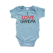 I Love Grandma Sweet Short Sleeve Baby Bodysuit