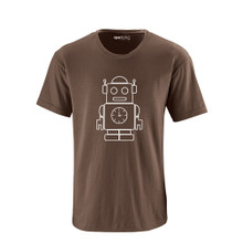 Robot Outline Fun Simple Design Unisex Adult Soft Cotton Tee Shirt