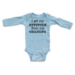 I Get My Attitude From My Grandpa Long Sleeve Baby Bodysuit