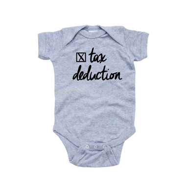 Tax Deduction Funny Cute Short Sleeve Baby Bodysuit