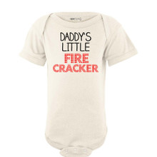 Daddy's Little Fire Cracker Short Sleeve Baby Bodysuit