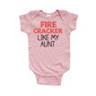 Firecracker Like My Aunt Short Sleeve Baby Bodysuit