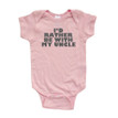Ultra Cute I'd Rather Be With My Uncle Soft Short Sleeve Baby Bodysuit