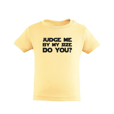 Judge Me By My Size Do You Geeky Unisex Short Sleeve Kids Tee