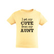 I Get My Cute From My Aunt Nephew Niece Unisex Kids T-Shirt