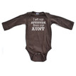 I Get My Attitude From My Aunt Funny Long Sleeve Baby Bodysuit