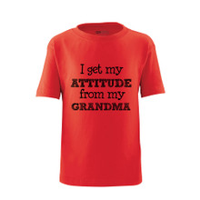 I Get My Attitude From My Grandma Short Sleeve Kids Tee Shirt