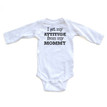 I Get My Attitude From My Mommy Sassy Long Sleeve Baby Bodysuit