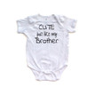 Cute Just Like My Brother Short Sleeve Baby Bodysuit