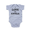 I Love Mi Abuela Spanish My Grandma Cute Short Sleeve Baby Bodysuit