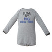I Love My Big Brother Long Sleeve Baby Bodysuit