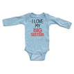Apericots I Love My Big Sister Long Sleeve Baby Bodysuit